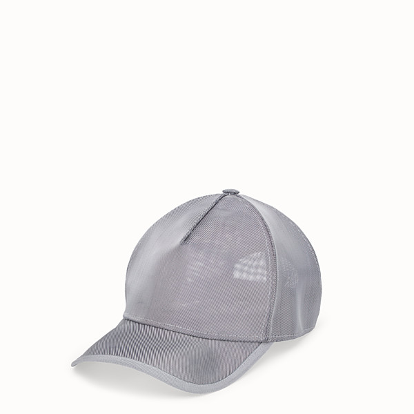 FENDI CHAPEAU - Casquette de baseball en micro-filet gris - view 1 small thumbnail