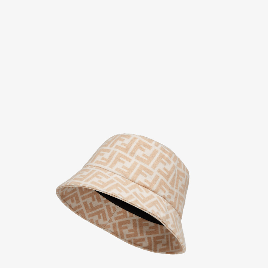 FENDI HAT - White silk and wool hat - view 1 detail
