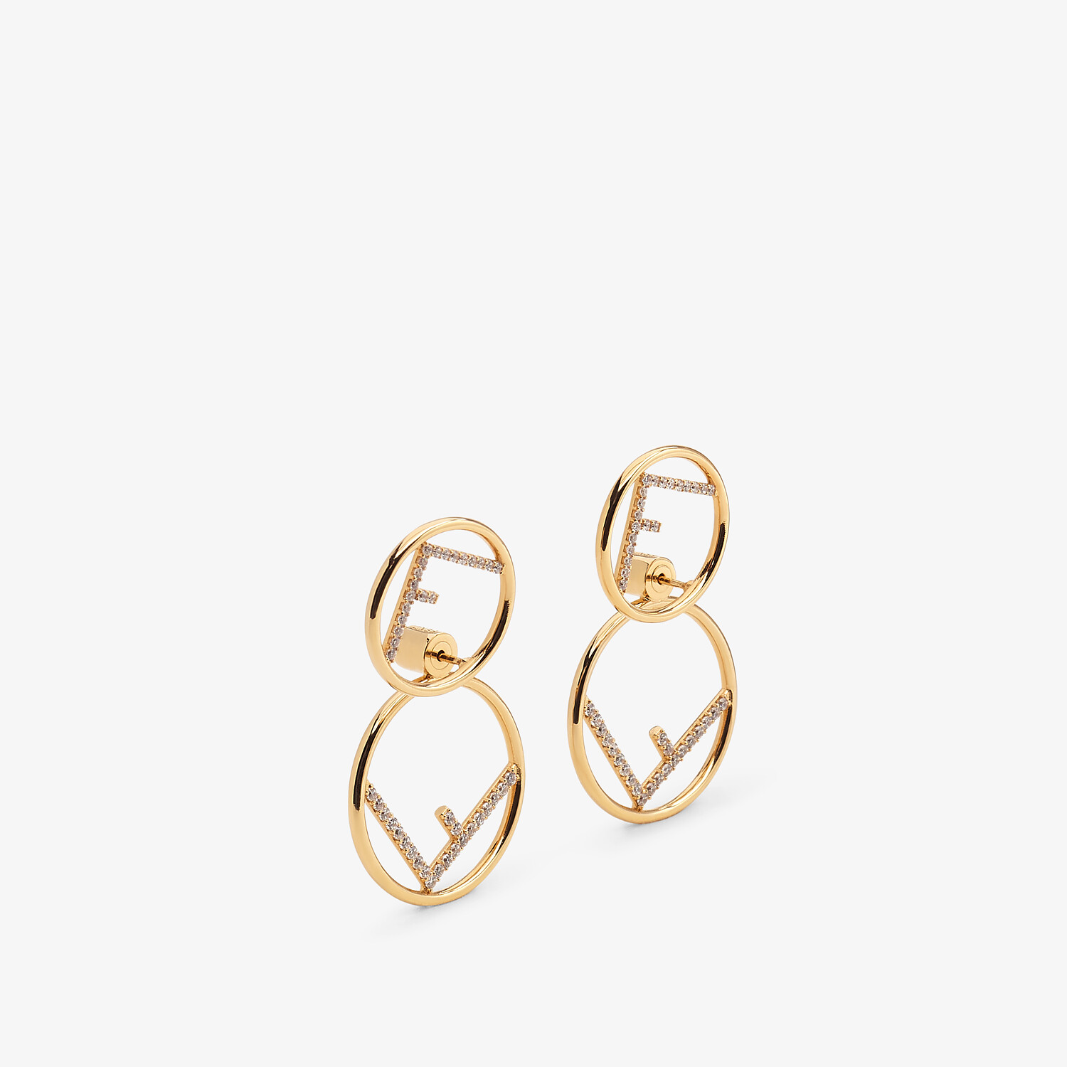 FENDI F IS FENDI EARRINGS - Gold-colored necklace - view 2 detail