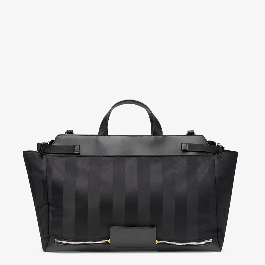FENDI PEEKABOO ICONIC MEDIUM - Black nylon bag - view 3 detail