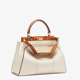 FENDI PEEKABOO ICONIC MEDIUM - White leather bag - view 4 thumbnail