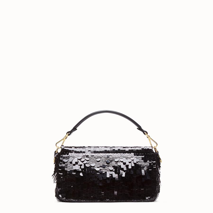 FENDI BAGUETTE - Black sequin bag - view 3 detail