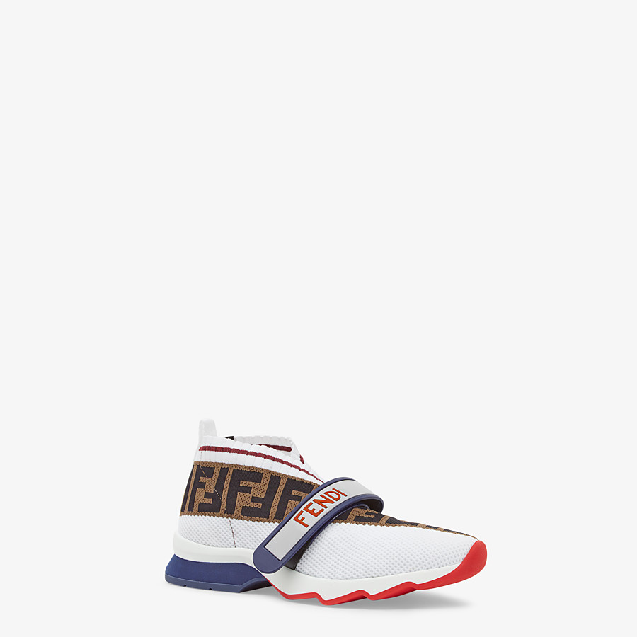 FENDI SNEAKERS - White fabric sneakers - view 2 detail