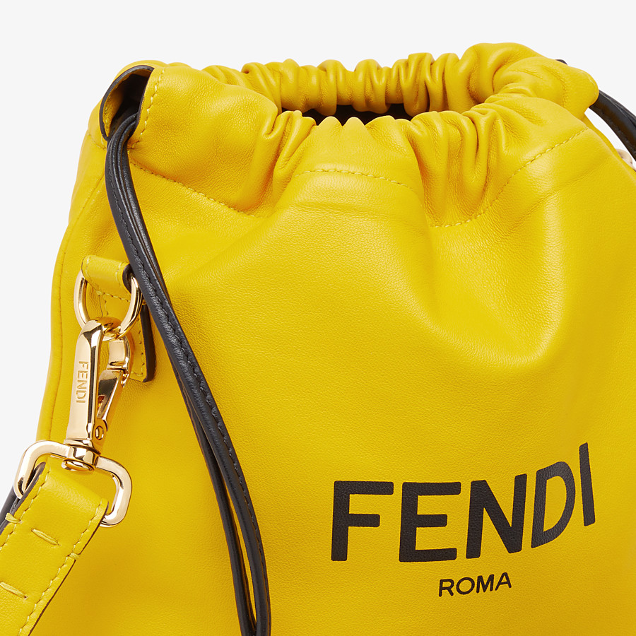 FENDI FENDI PACK SMALL POUCH - Yellow nappa leather bag - view 5 detail