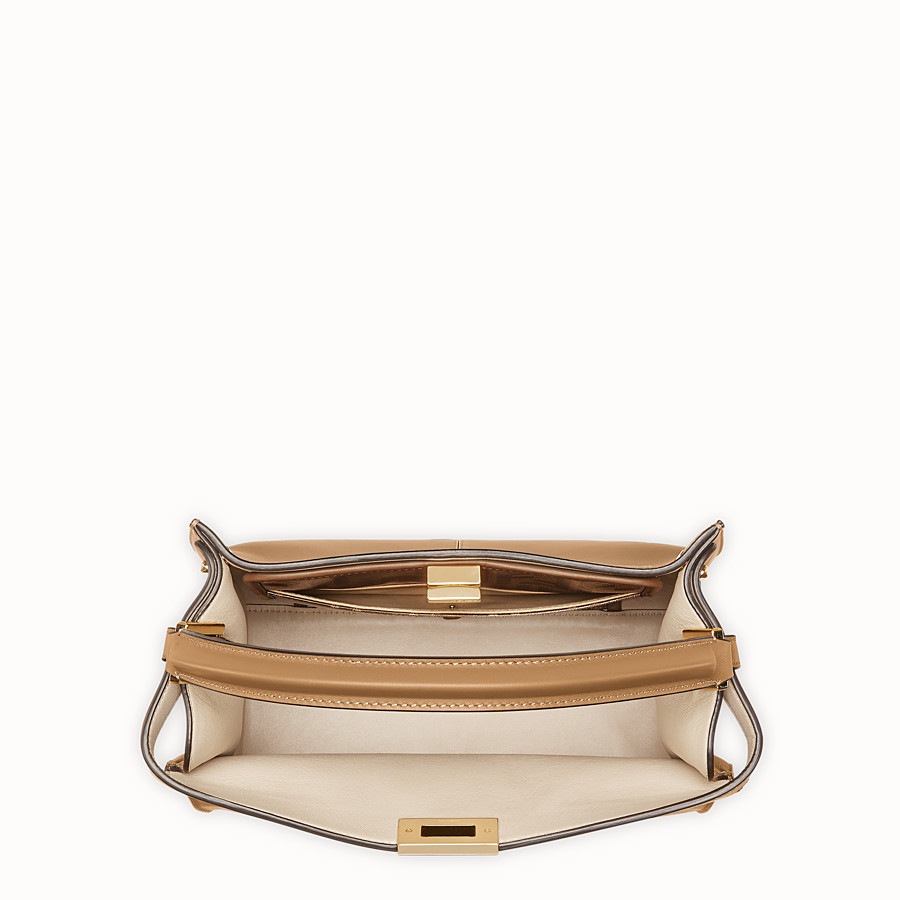 FENDI PEEKABOO X-LITE MEDIUM - Beige leather bag - view 6 detail