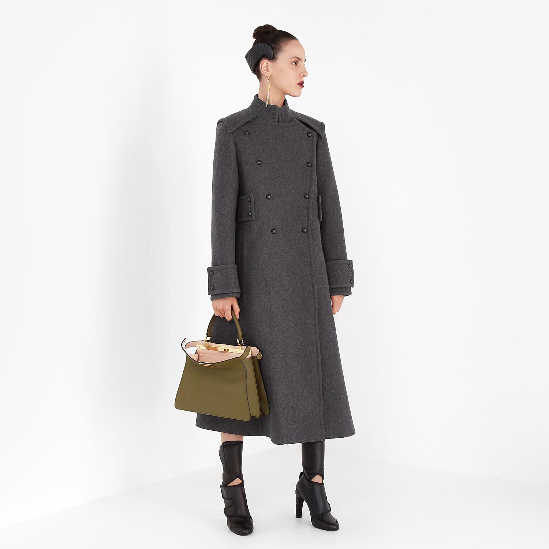 FENDI CAPPOTTO - Cappotto in lana grigia - vista 4 dettaglio