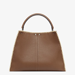 FENDI PEEKABOO X-LITE LARGE - Brown leather bag - view 5 thumbnail