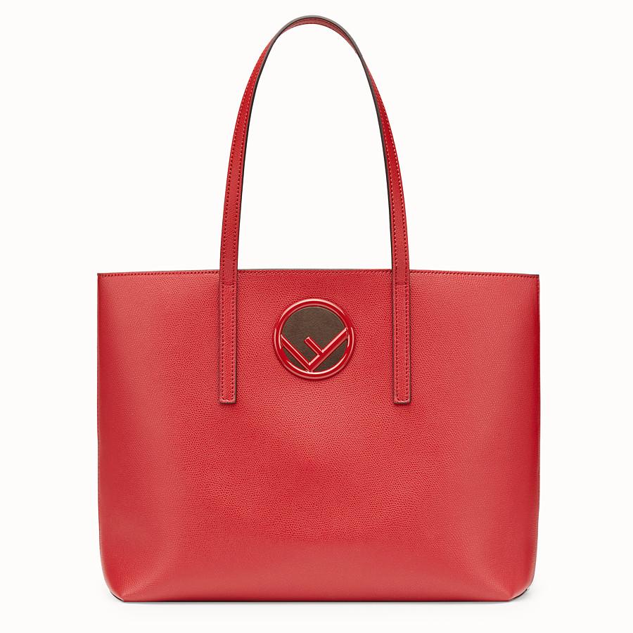 FENDI SHOPPER - Red leather shopper - view 1 detail