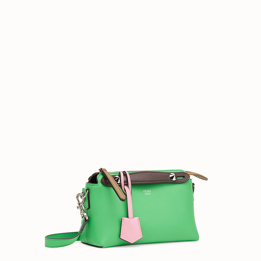 FENDI BY THE WAY MINI - Bauletto piccolo in pelle verde - vista 3 dettaglio