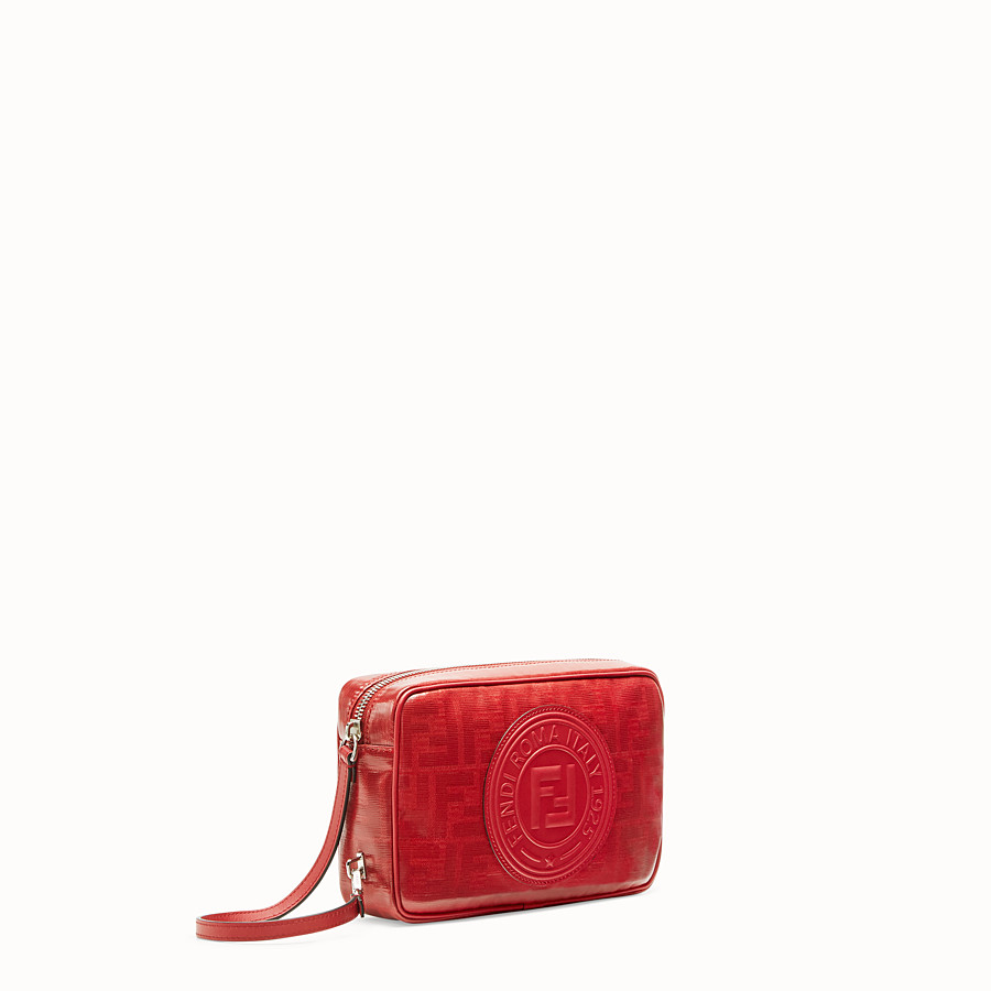 FENDI CAMERA CASE - Red fabric bag - view 2 detail