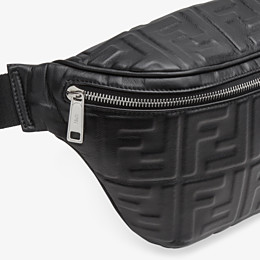 FENDI BELT BAG - Black nappa leather belt bag - view 5 thumbnail
