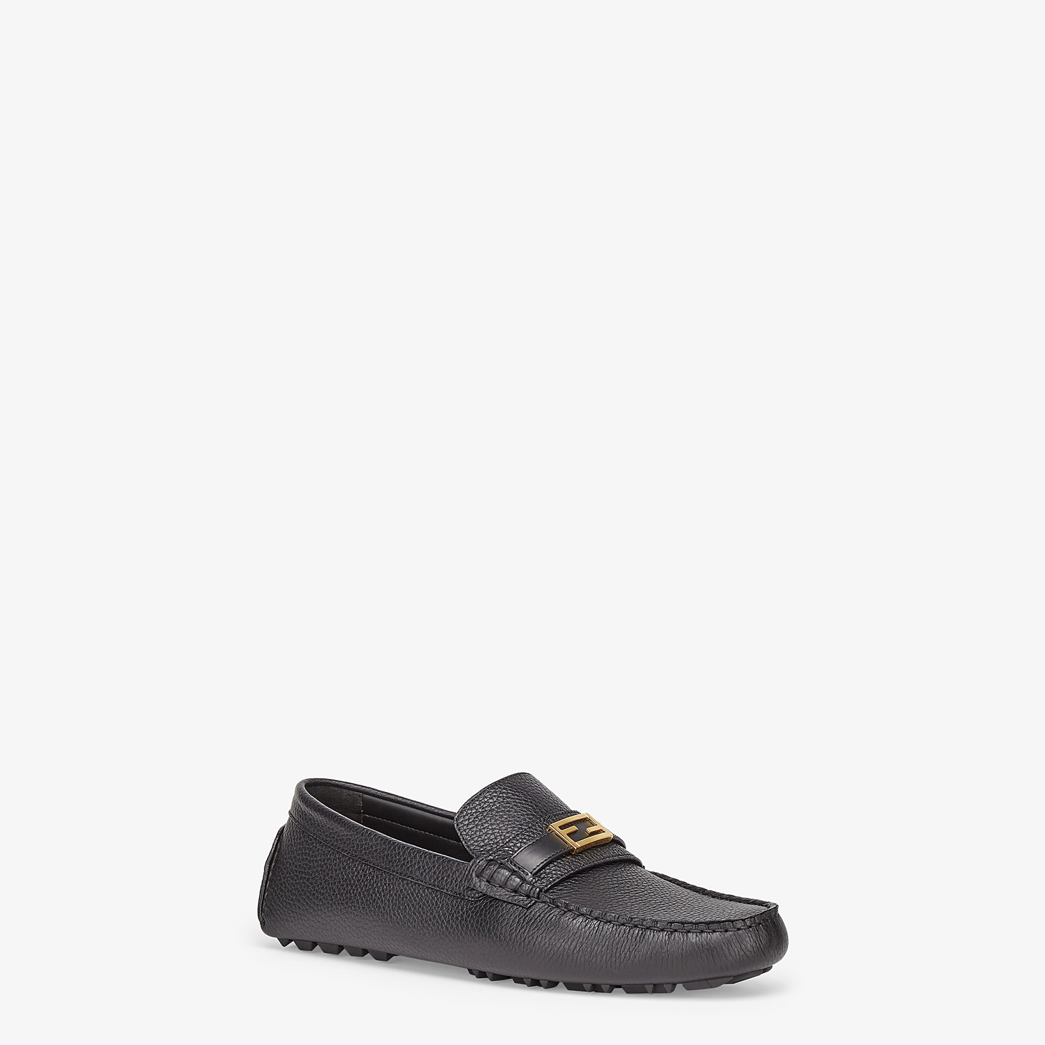 FENDI LOAFERS - Black leather drivers - view 2 detail