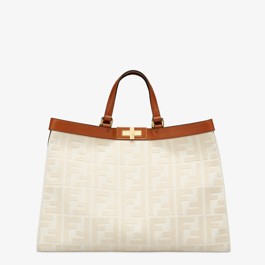 FENDI PEEKABOO X-TOTE - White canvas bag - view 1 detail