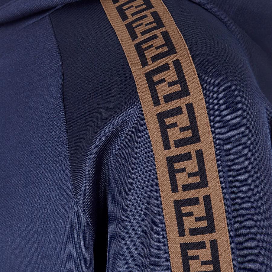 FENDI  - ブルーテクニカルファブリック スウェットシャツ - view 3 detail