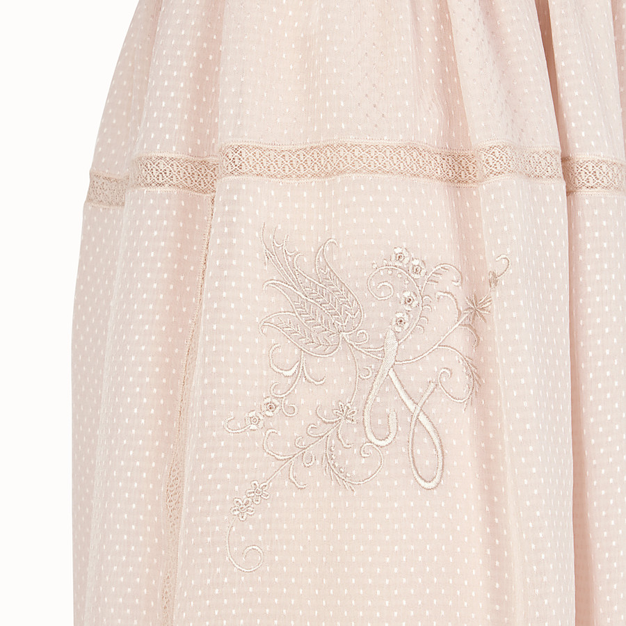 FENDI SKIRT - Pink cotton skirt - view 3 detail