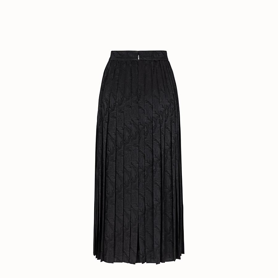 FENDI SKIRT - Black silk skirt - view 2 detail