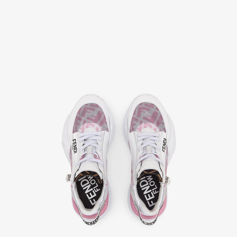 FENDI FENDI FLOW - Pink nylon low tops - view 4 detail
