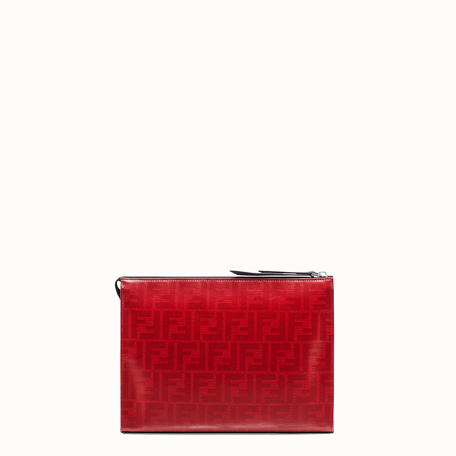 FENDI CLUTCH - Red fabric pochette - view 3 detail