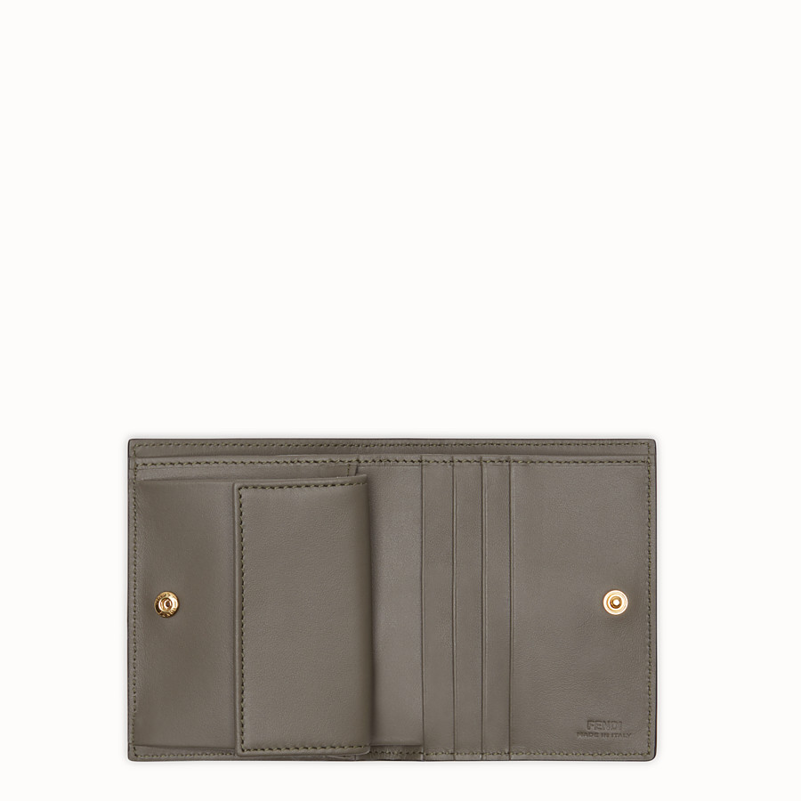 FENDI BIFOLD - Green leather compact wallet - view 3 detail