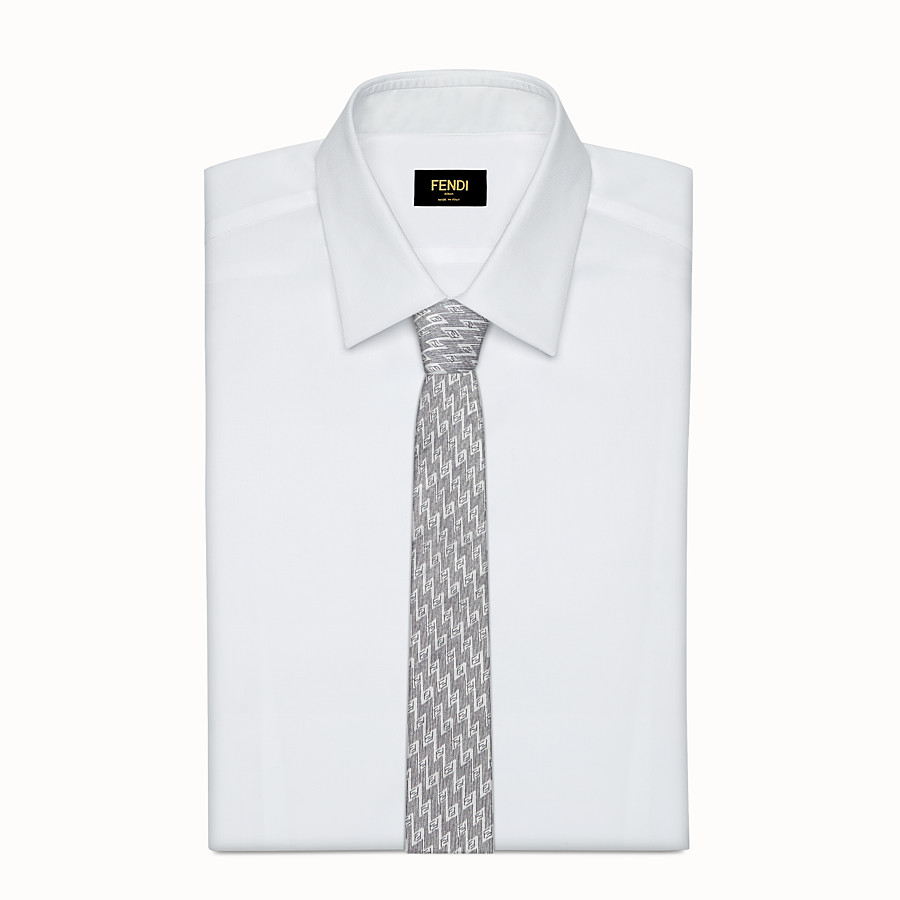 FENDI TIE - White silk necktie - view 2 detail