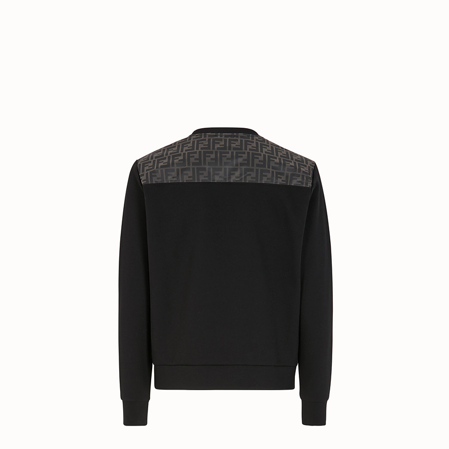 FENDI SWEAT-SHIRT - Sweat-shirt en coton noir - view 2 detail