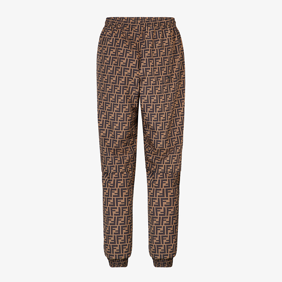 FENDI PANTS - Brown nylon pants - view 2 detail