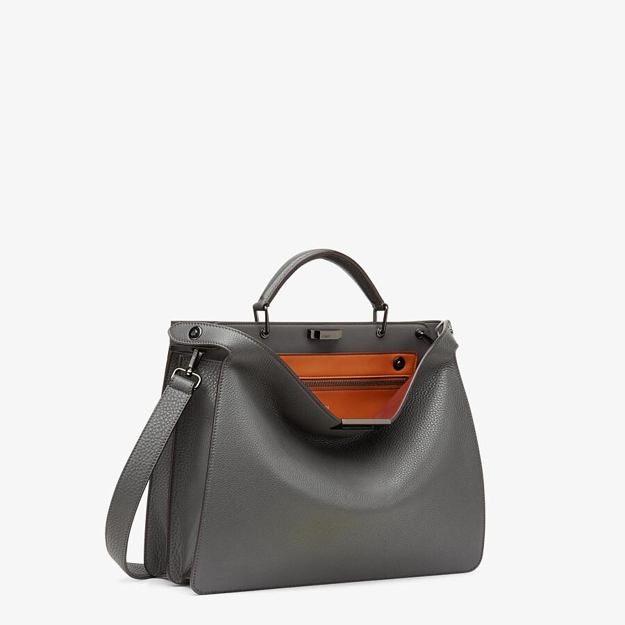 FENDI PEEKABOO ISEEU MEDIUM - Gray leather bag - view 3 detail