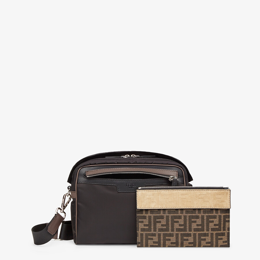 FENDI MESSENGER - Black nylon bag - view 2 detail