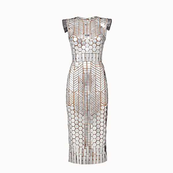 FENDI DRESS - Fendi Prints On dress with silver-coloured patches - view 1 small thumbnail