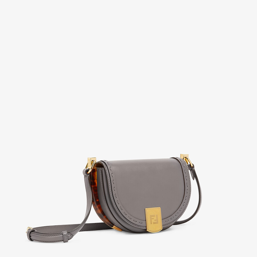 FENDI MOONLIGHT - Gray leather bag - view 2 detail