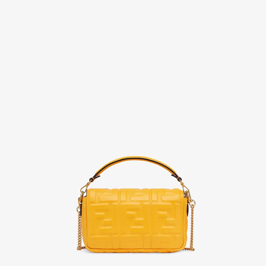 FENDI BAGUETTE - Orange nappa leather bag featuring the FF motif - view 4 detail