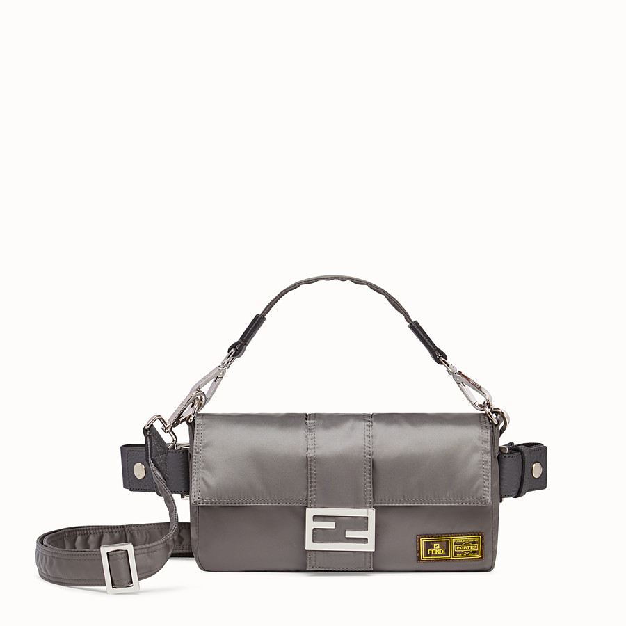 FENDI BAGUETTE FENDI AND PORTER - Silver colour nylon bag - view 1 detail