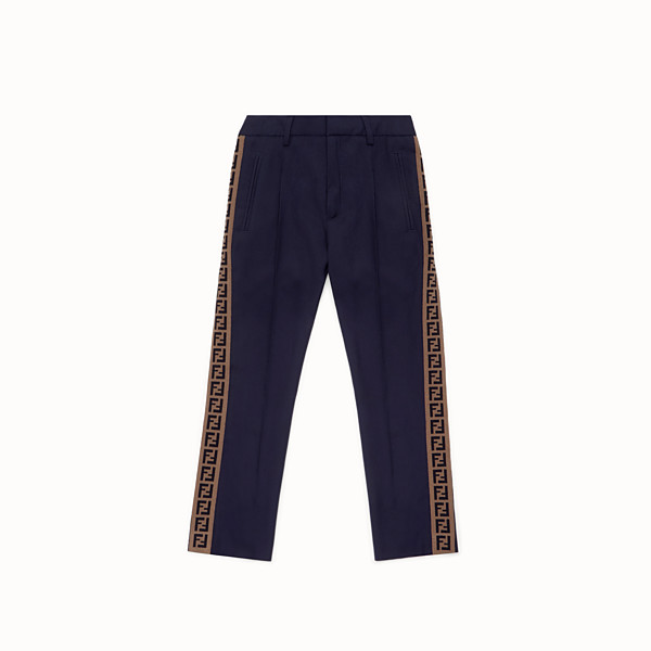 FENDI PANTS - Blue wool trousers - view 1 small thumbnail