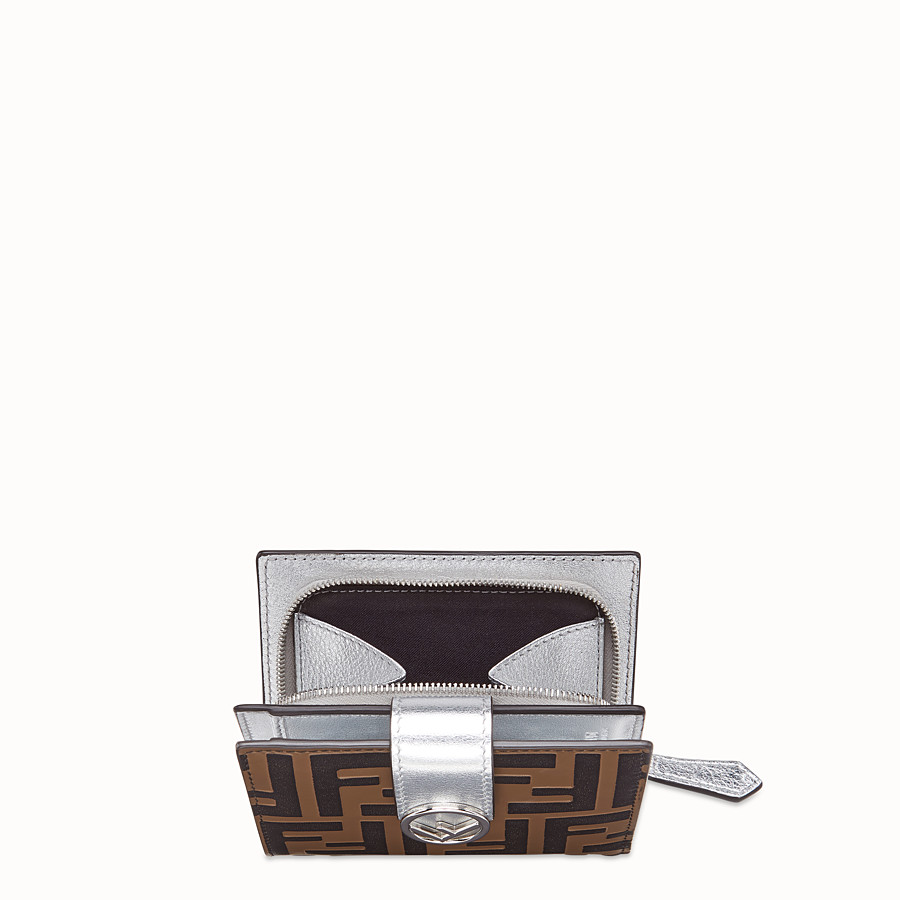 FENDI BIFOLD - Compact, silver leather wallet - view 3 detail