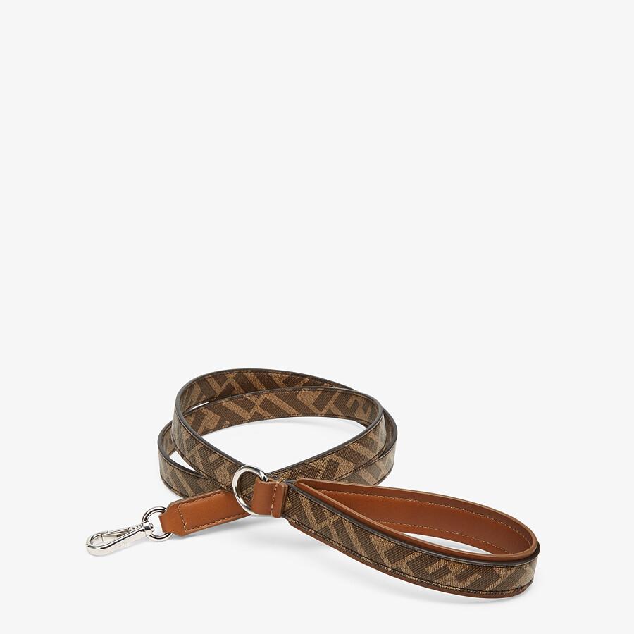 FENDI DOG LEASH - Brown fabric lead - view 2 detail