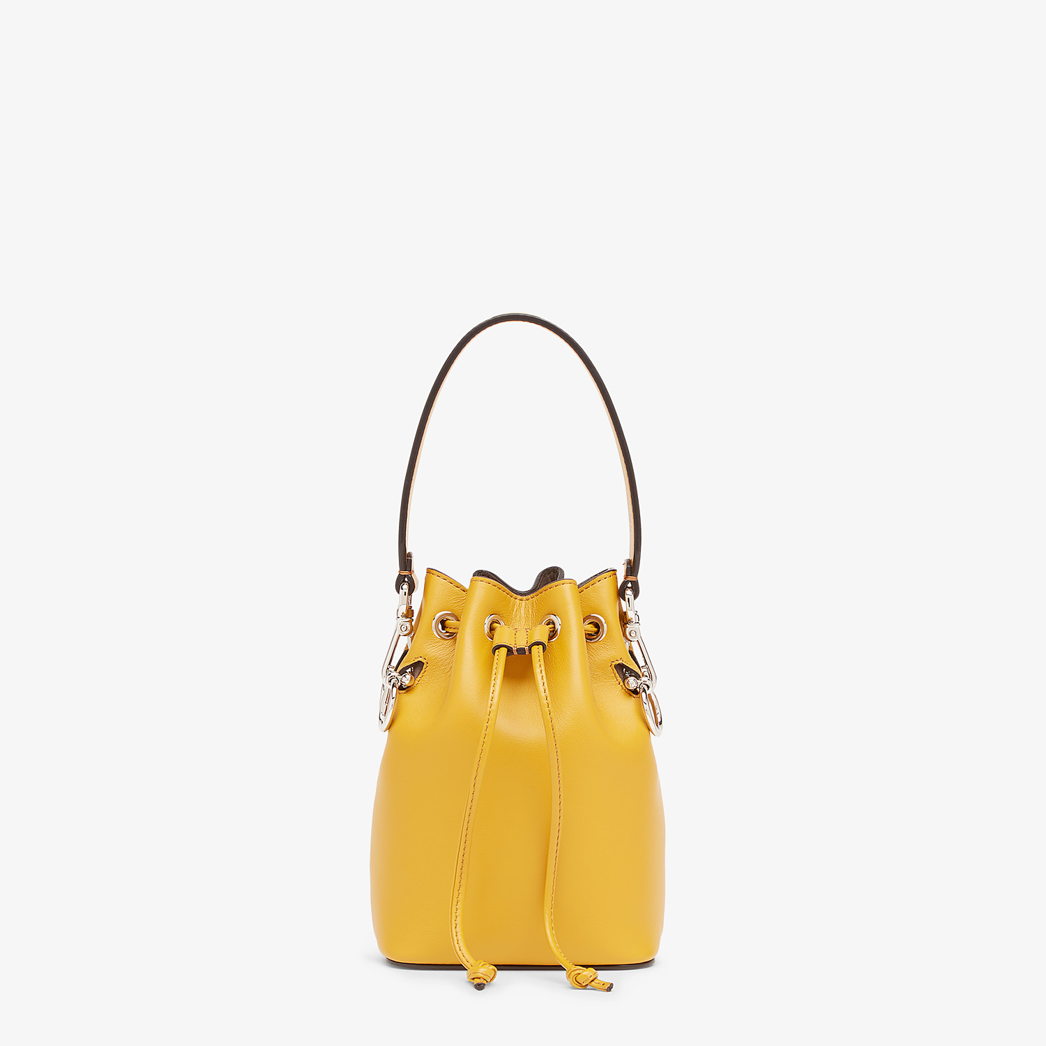 FENDI MON TRESOR - Yellow leather mini-bag - view 1 detail