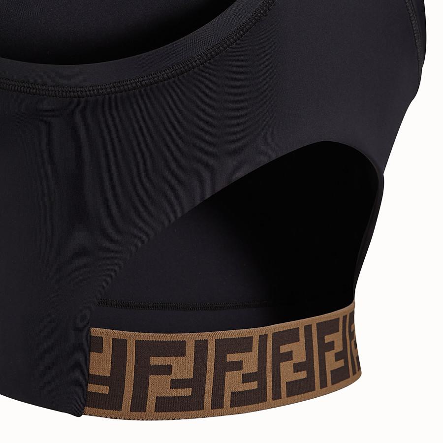 FENDI HOSE - Radlerhose aus schwarzem Stretch-Jersey - view 3 detail
