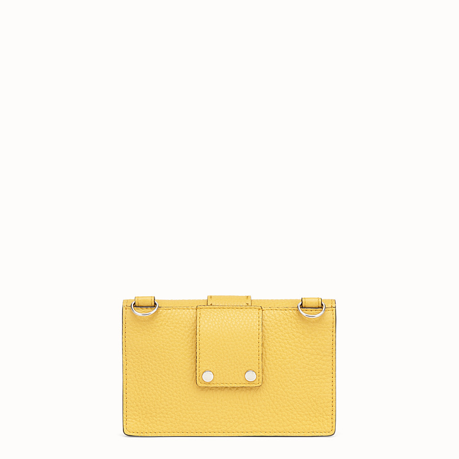 FENDI BAGUETTE POUCH - Yellow leather bag - view 3 detail