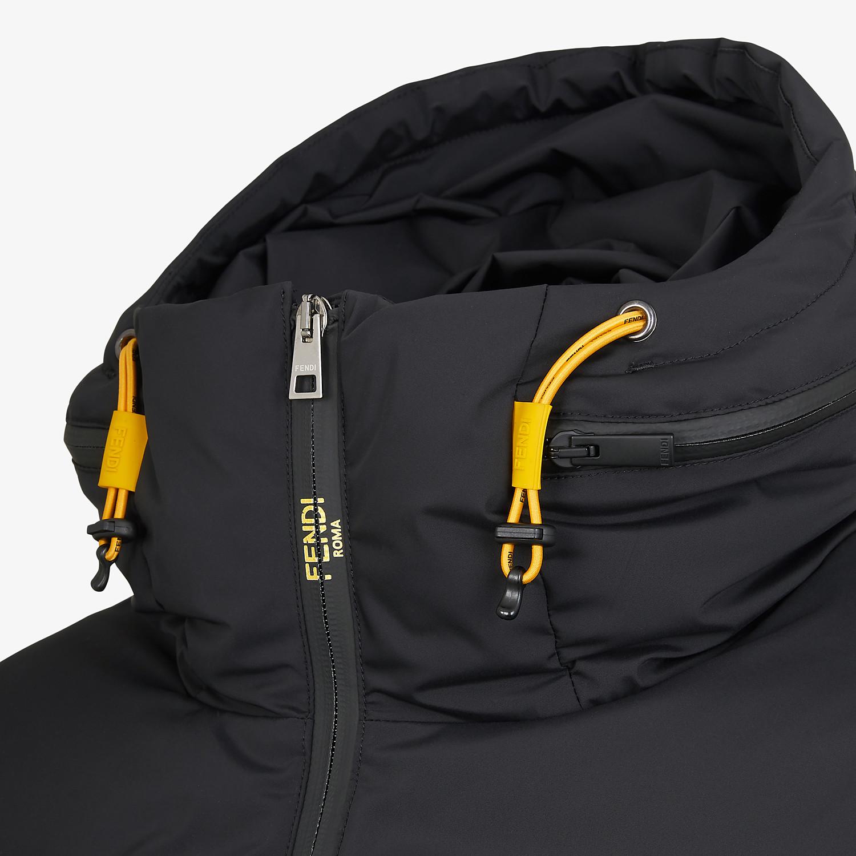 FENDI DOWN JACKET - Black tech fabric jacket - view 3 detail
