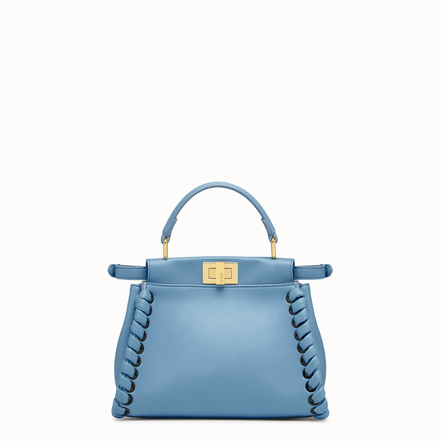 FENDI PEEKABOO MINI - Pale blue leather bag - view 3 detail