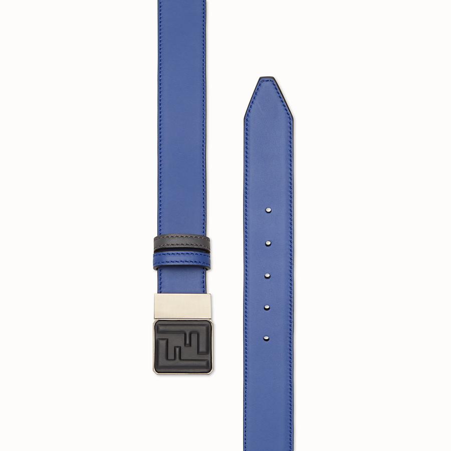 FENDI 皮帶 - 藍色及灰色皮帶 - view 2 detail