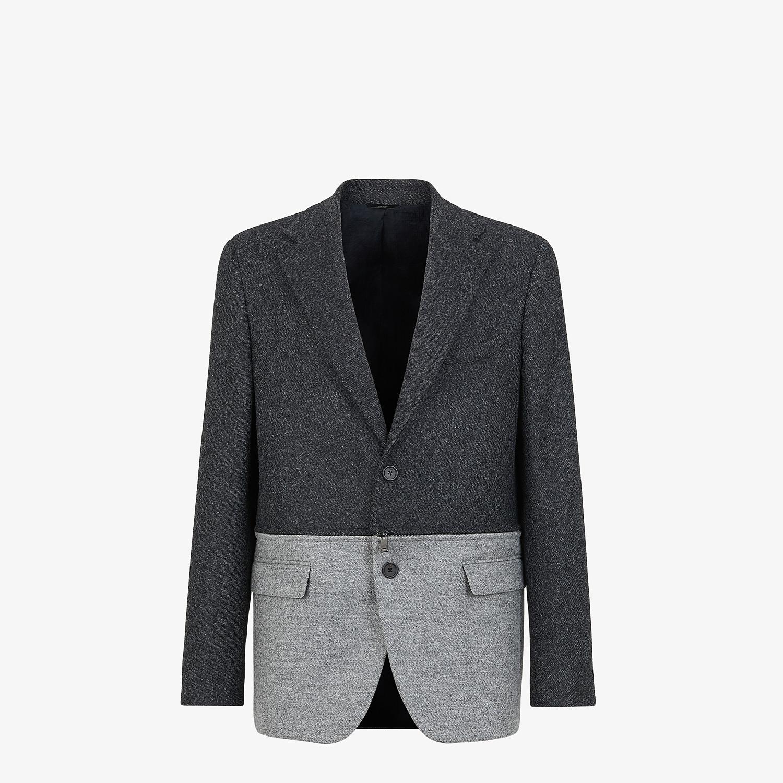 FENDI JACKET - Gray wool flannel blazer - view 1 detail