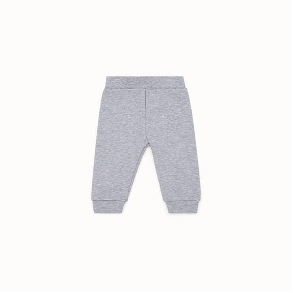 FENDI PANTS - Grey cotton trousers - view 1 small thumbnail