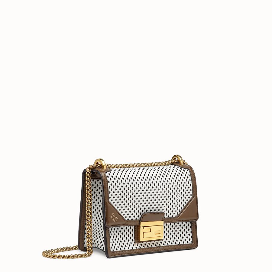 FENDI KAN U SMALL - White leather minibag - view 3 detail