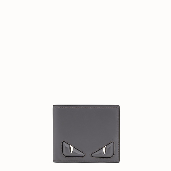 FENDI WALLET - Grey leather bi-fold wallet - view 1 small thumbnail