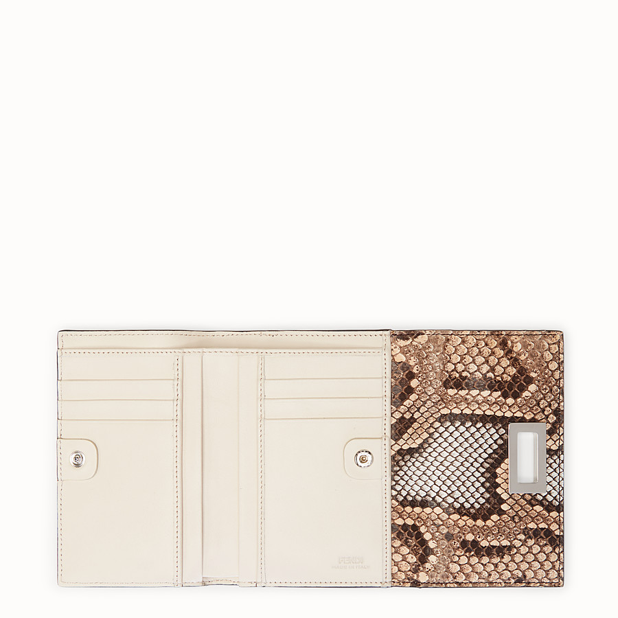 FENDI CONTINENTAL MEDIUM - Pink python wallet - view 5 detail