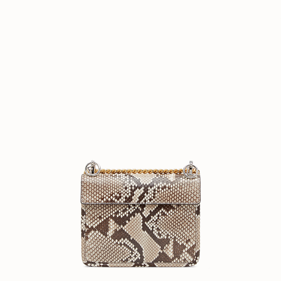 FENDI KAN I F SMALL - White python mini-bag - view 3 detail