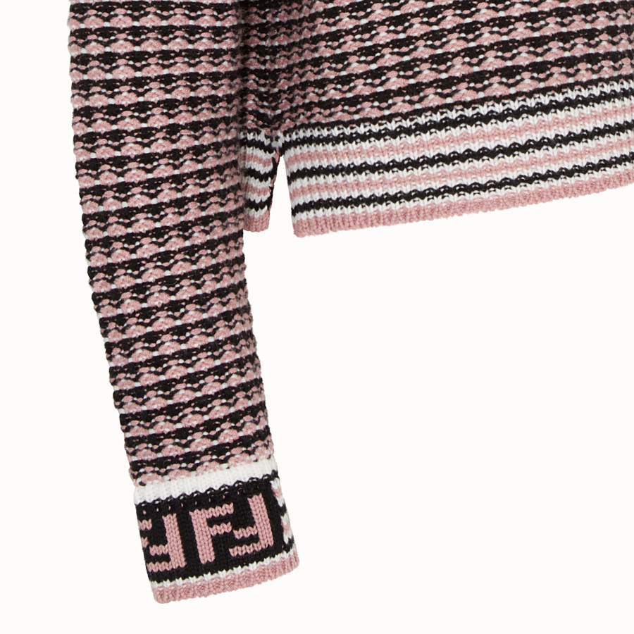 FENDI PULLOVER - Micro-check wool jumper - view 3 detail