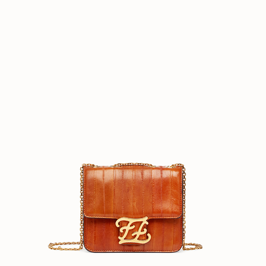 FENDI KARLIGRAPHY - Brown eel leather bag - view 1 detail