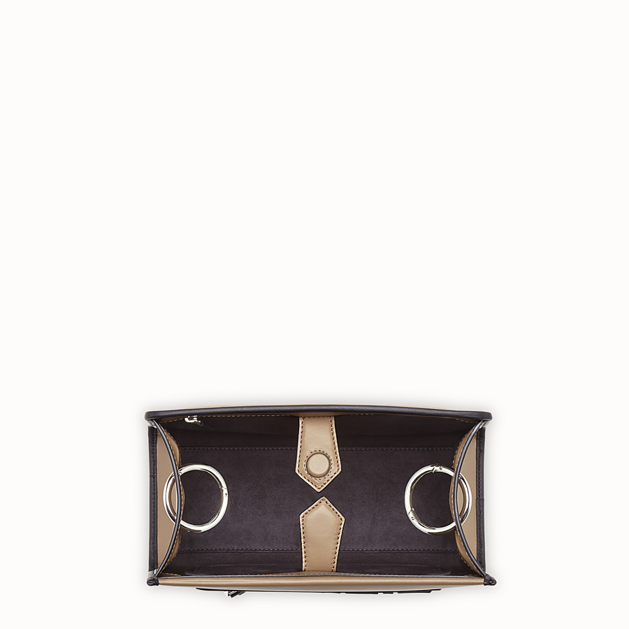 FENDI RUNAWAY SMALL - Brown leather bag - view 4 detail